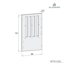 Piecero separador para Konvers gemelares Alondra T1220
