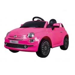 Coche electrico 30Wx2 Qplay Fiat 500 Rosa