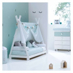 PACK Cabaña Alondra Montessori INDY 70x140 con textil y cojines