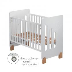 Cuna Colecho Don Algodón MOON NATURE incluye ruedas y patas natural