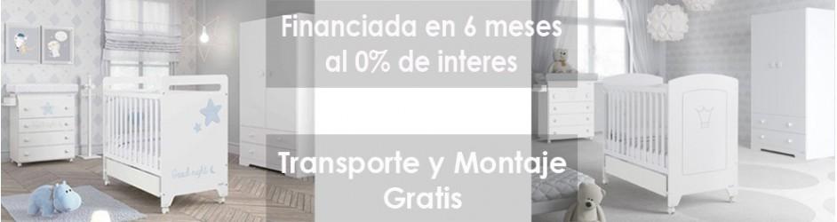 Habitación Financiada al 0% Transporte y Montaje Gratis