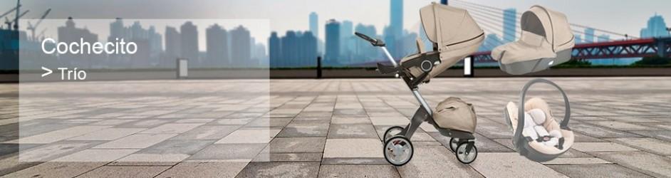 6baad32c3 Cochecito de bebé de tres piezas. Capazo, silla reversible y grupo 0 ...